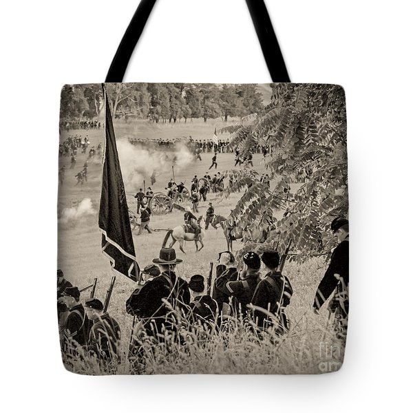Gettysburg Union Artillery And Infantry 7459s Tote Bag