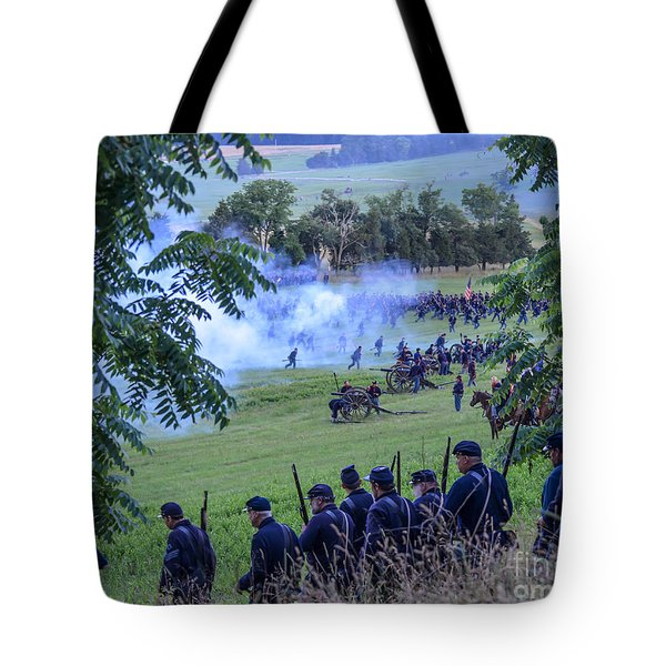 Gettysburg Union Artillery And Infantry 7465c Tote Bag