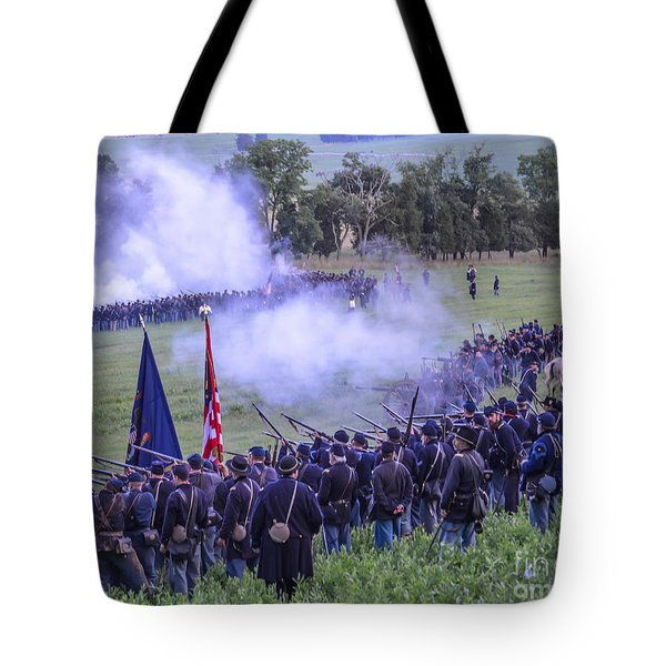 Gettysburg Union Artillery And Infantry 7496c Tote Bag