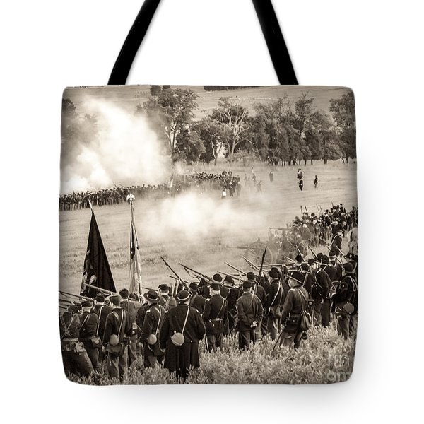 Gettysburg Union Artillery And Infantry 7496s Tote Bag