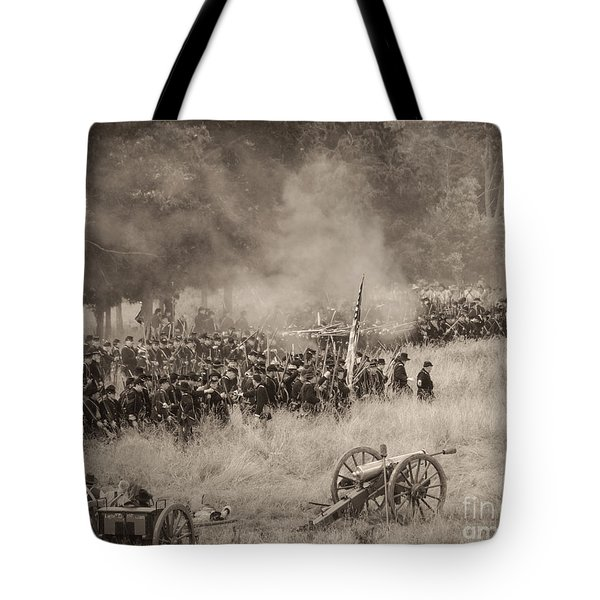 Gettysburg Union Artillery And Infantry 8456s Tote Bag