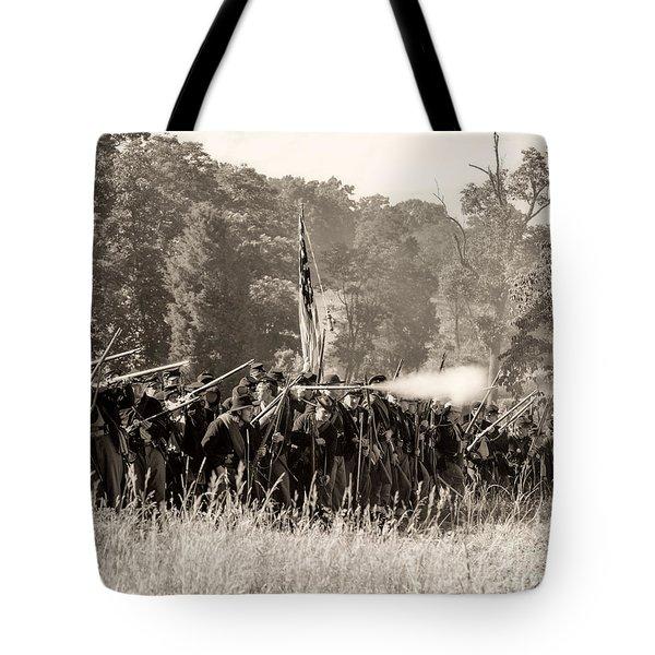 Gettysburg Union Infantry 9372s Tote Bag