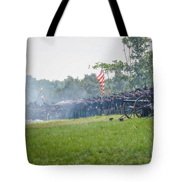Gettysburg Union Infantry 9968c Tote Bag