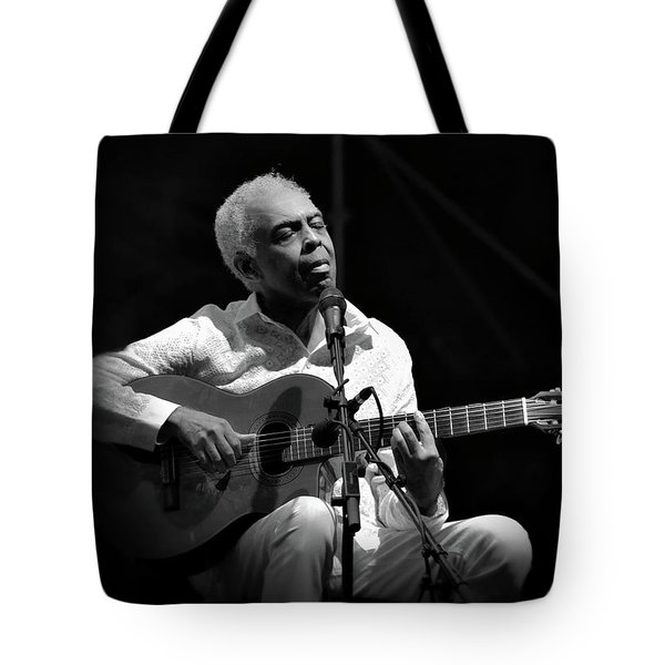 Gilberto Gil   Black And White Tote Bag