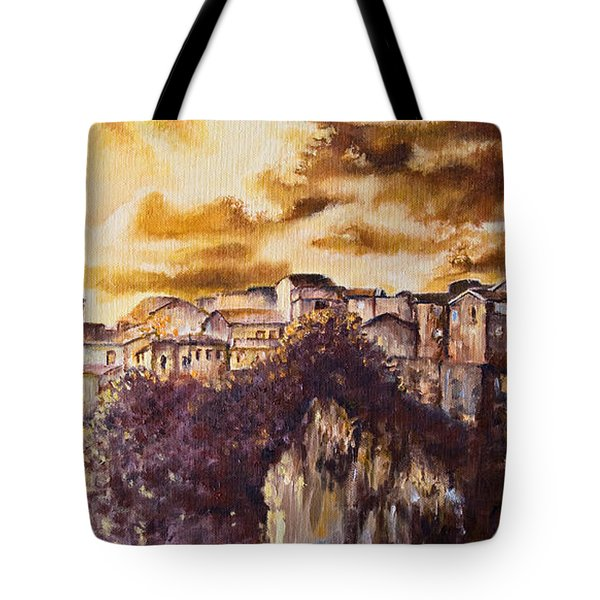 Golden Lights Tote Bag