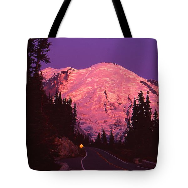 Highway To Sunrise Tote Bag