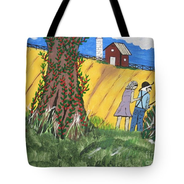 Tote Bag featuring the painting  I Got A Big One. by Jeffrey Koss