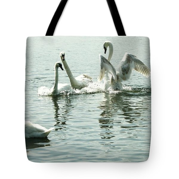 I Think He Means It..... This Time........ Tote Bag by Martina Fagan
