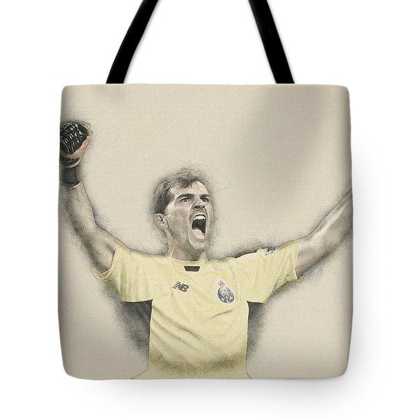 Iker Casillas  Tote Bag by Don Kuing