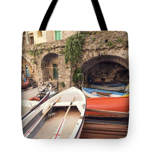 Il Porto Barca Tote Bag by Brad Scott