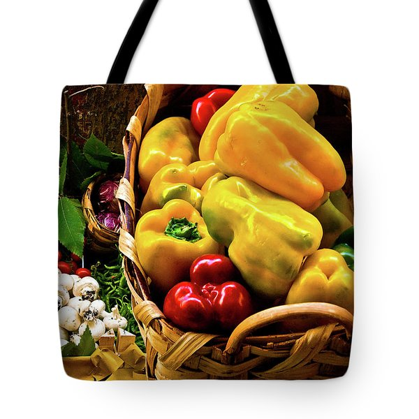 Tote Bag featuring the photograph  Italian Peppers  by Harry Spitz
