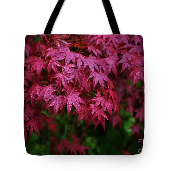 Japanese Maple Rain Tote Bag