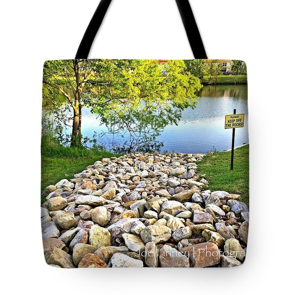 Keep Off The Rocks - No.430 Tote Bag