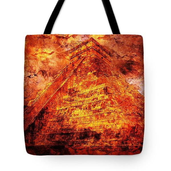 Kukulcan Pyramid Tote Bag