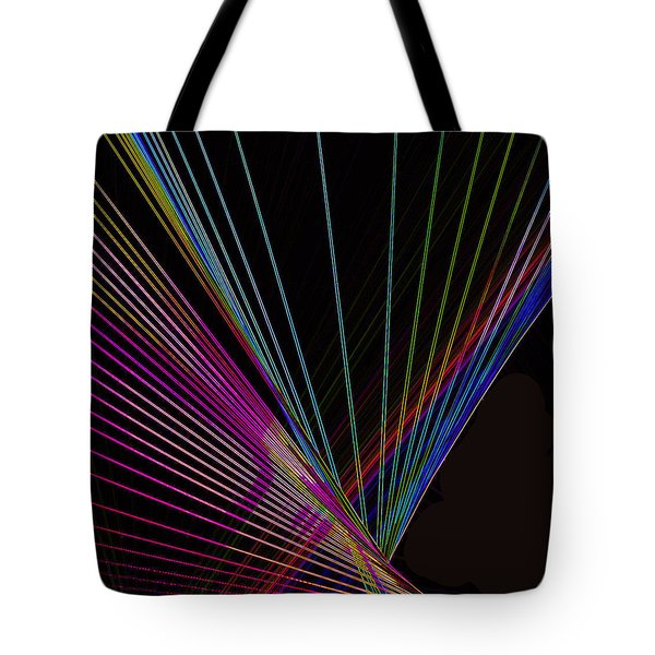 Laser Abstract Tote Bag