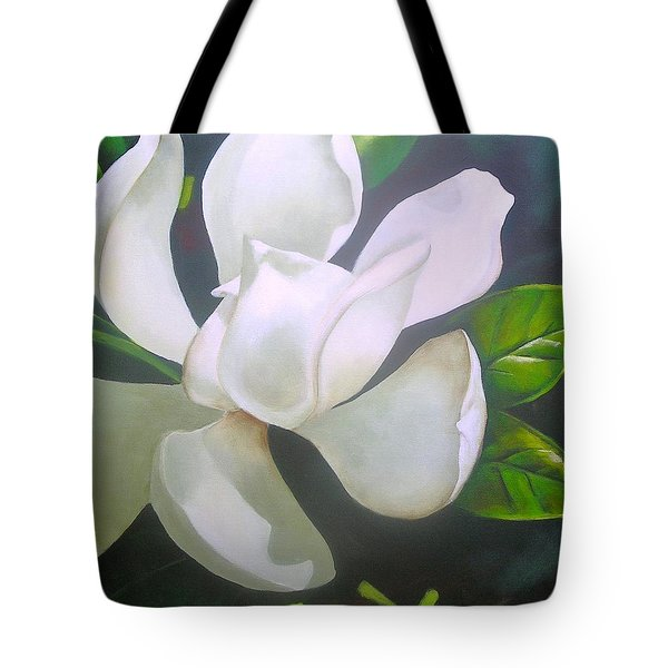 Magnolia Delight Painting Tote Bag