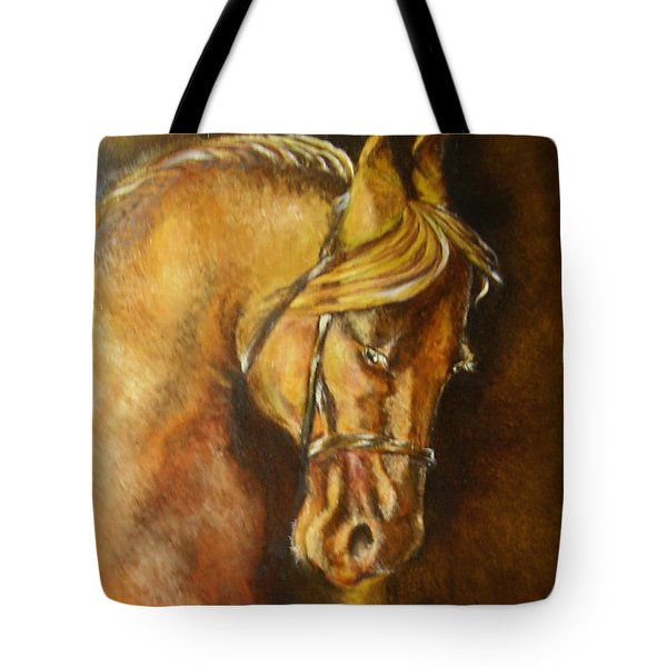 A Winning Racer Brown Horse Tote Bag by Remy Francis