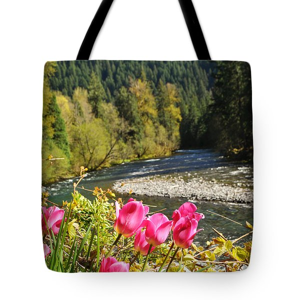 Mckenzie River Tulips Tote Bag