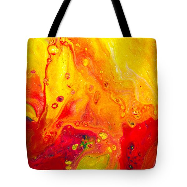 Melancholy - Abstract Warm Mixed Media Painting Tote Bag by Modern Art Prints