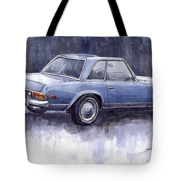 Mercedes Benz 280 Sl W113 Pagoda  Tote Bag by Yuriy  Shevchuk