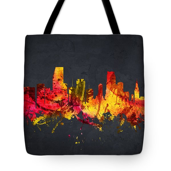 Miami Cityscape 07 Tote Bag by Aged Pixel
