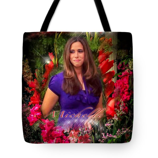Tote Bag featuring the photograph  Michelle - Heaven's Birthday Angel by Glenn Feron