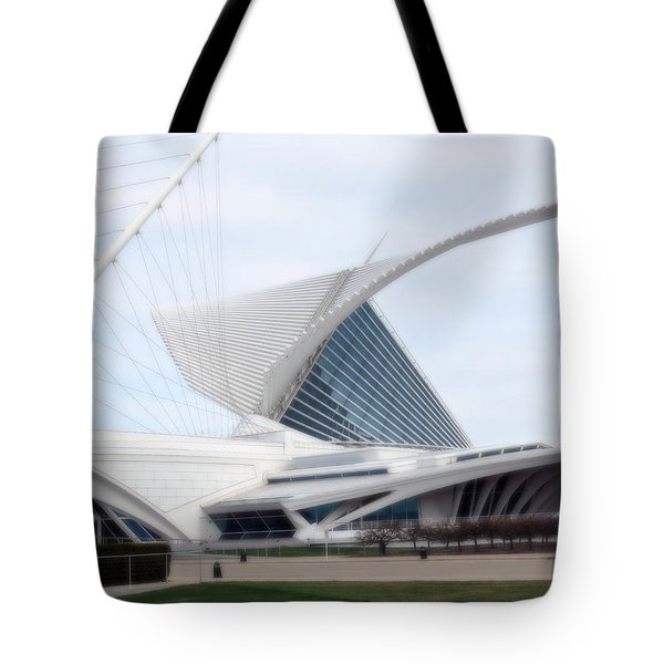 Tote Bag featuring the photograph  Milwaukee Art Museum by Kay Novy