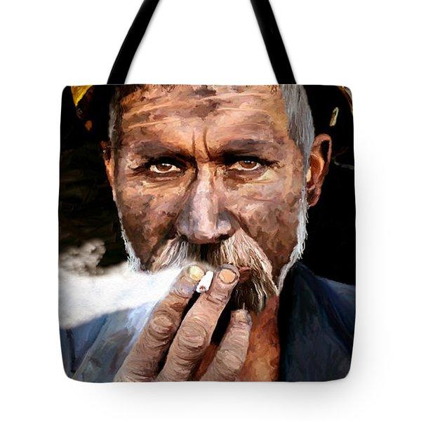Miner Tote Bag by James Shepherd
