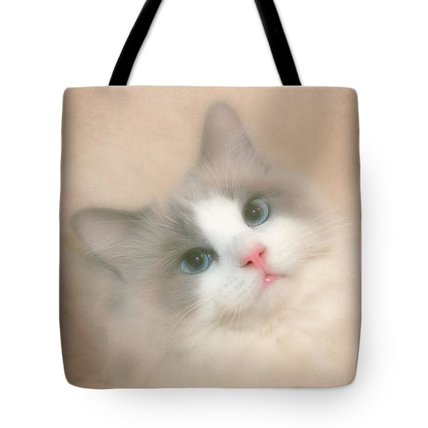 Misty Blue Tote Bag