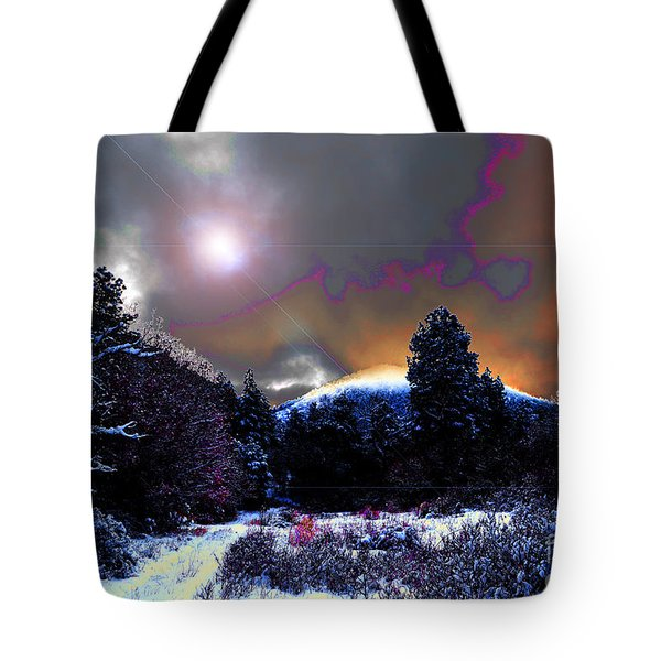 Moonrise On Kiva Mountain Tote Bag