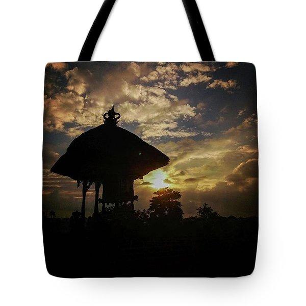 Balinese Temple Tote Bag