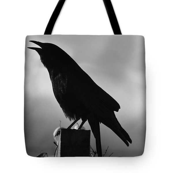 Mother Crow  In Black Tote Bag
