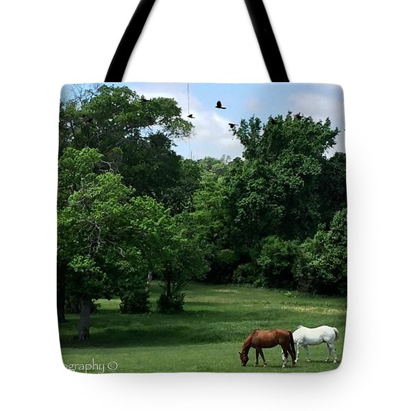 Mr. And Mrs. Horse - No. 195 Tote Bag
