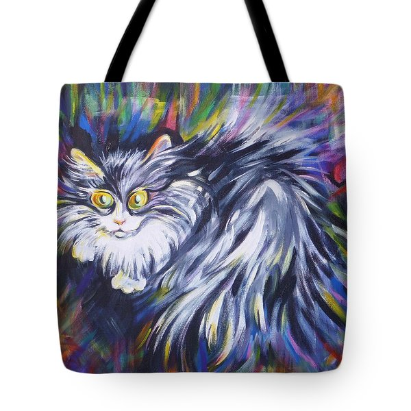 Tote Bag featuring the painting  Mrs.curiosity  by Anna  Duyunova