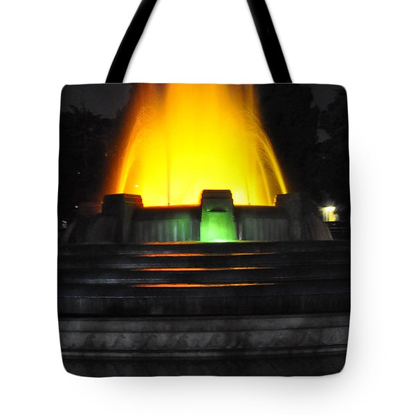 Mulholland Fountain Reflection Tote Bag