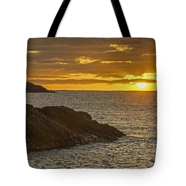 Ninini Point Lighthouse Sunrise Tote Bag