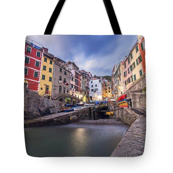 Notte A Riomaggiore Tote Bag
