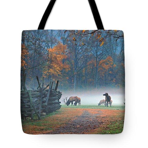 Oconaluftee Visitor Center Elk Tote Bag