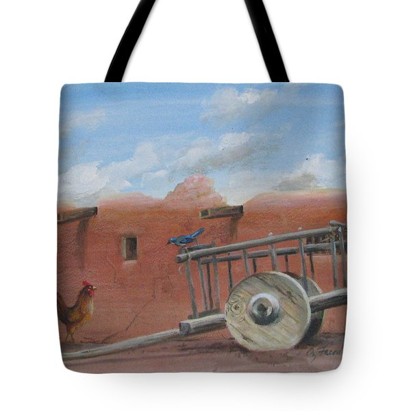 Tote Bag featuring the painting  Old Spanish Cart  by Oz Freedgood