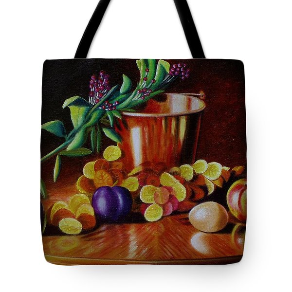 Pail Of Plenty Tote Bag by Gene Gregory