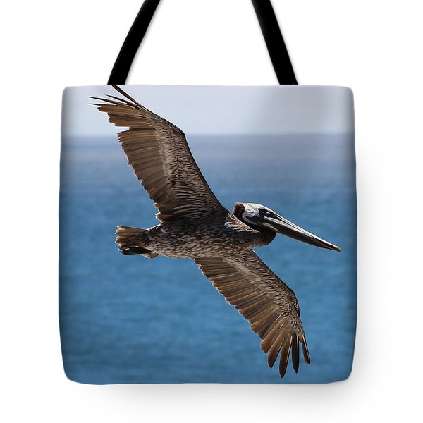 Pelican Flying Wings Outstretched Tote Bag