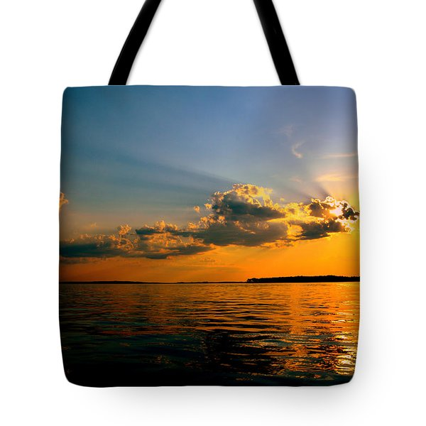Tote Bag featuring the photograph  Perfect Ending To A Perfect Day by Lisa Wooten