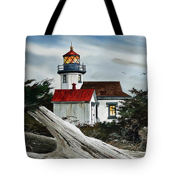 Point Robinson Lighthouse And Mt. Rainier Tote Bag