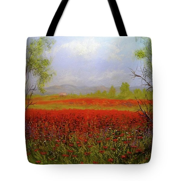 Poppie Morning 2 Tote Bag