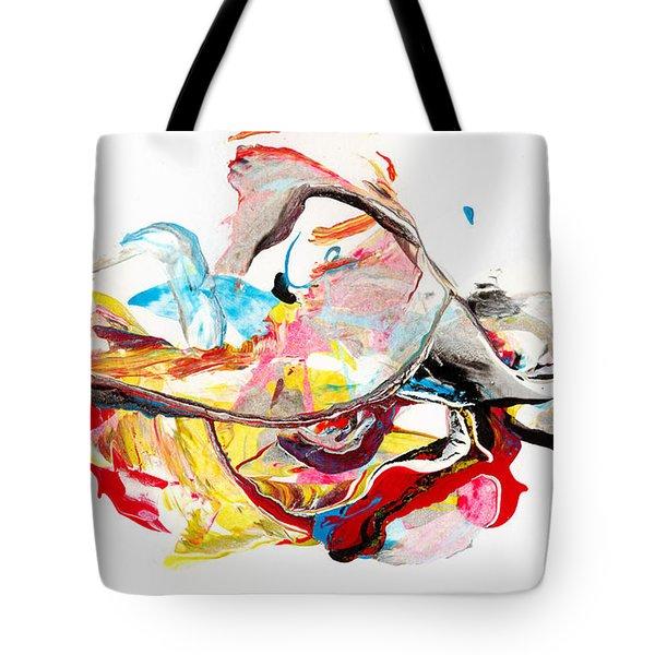 Princess  - Abstract Colorful Mixed Media Painting Tote Bag
