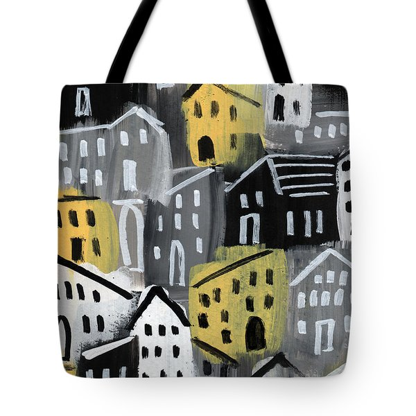 Rainy Day - Expressionist Art Tote Bag