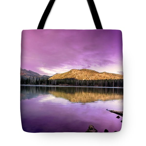 Reflections On Sparks Lake Tote Bag