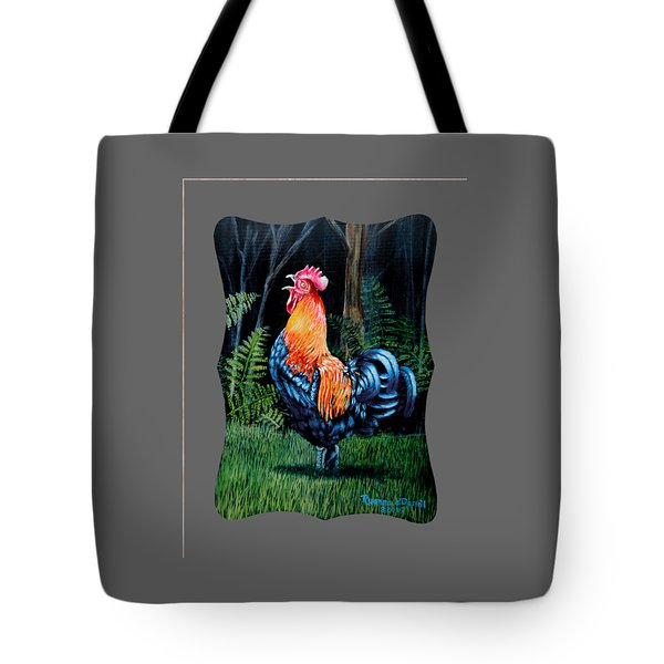 Rooster Crow A Welsummer Rooster  Tote Bag