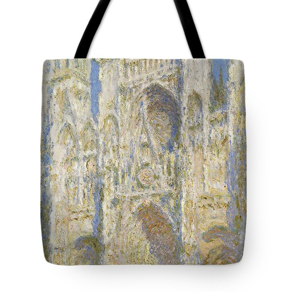 Rouen Cathedral West Facade Sunlight Tote Bag