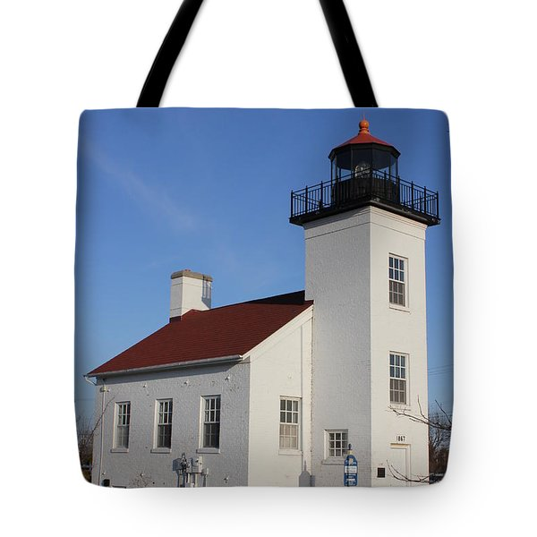 Sand Point Lighthouse Escanaba Tote Bag